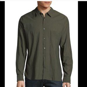 John Varvatos Olive Green button down shirt
